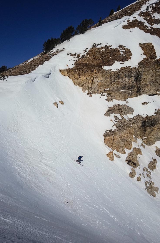 Deseret Peak Twin couloir Tele Ski