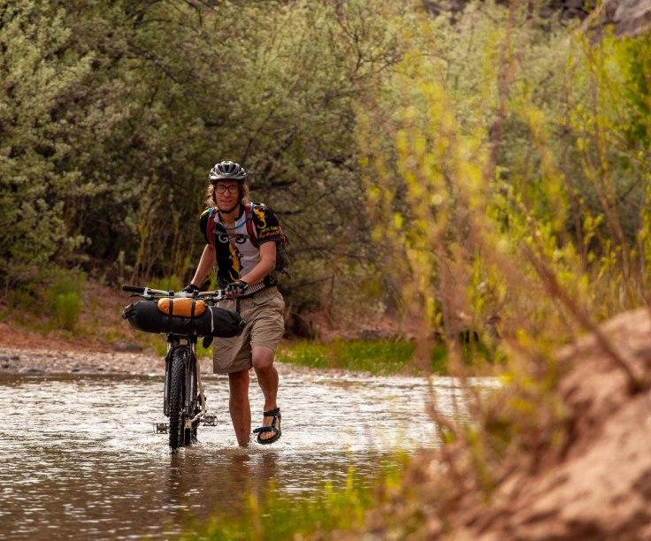 Fremont river fording bikepacking